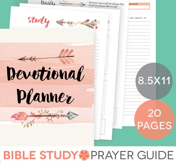 daily devotional printable set weekly bible study guide. Black Bedroom Furniture Sets. Home Design Ideas