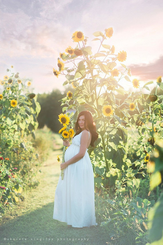 Maternity Dress For Baby Shower White Photography Photoshoot Pregnancy Photo Shoot Wedding Open Back Long Maxi