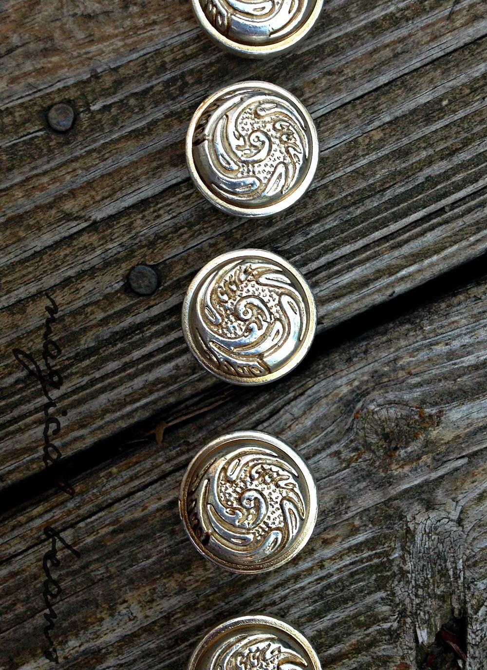 Silver Drawer Knobs Swirl Dresser Knobs Baroque Drawer