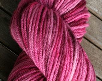 Hand dyed, 100purewool, Uruguayan merino wool, 100g skein, 10 ply. Worsted weight. Aran.