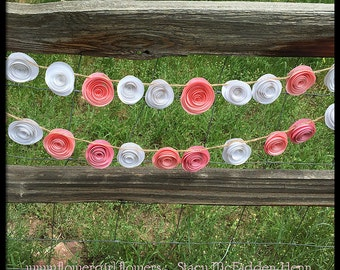 Flower Garland Paper Flower Garland for Wedding, Reception, Baby Shower, Party Decoration Handmade Paper Flowers on String