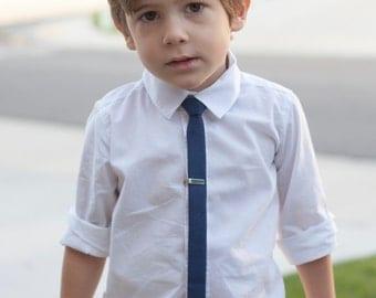 Navy super skinny tie, Boys skinny tie - kids necktie - tie for kids, toddler necktie, baby tie