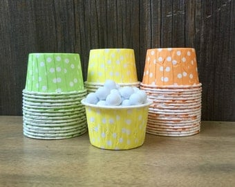 48 Lime, Yellow and Orange Candy Cups--Nut Cups--Wedding--Shower--Birthday Party--Citrus Portion Cups--Paper Party Goods
