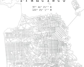 San Francisco Map Illustration