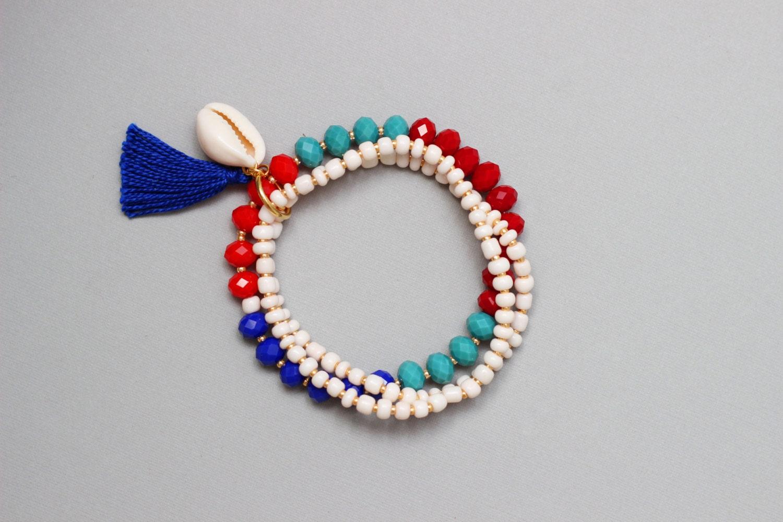 Beaded Stretch Bracelet Summer Stacked Bracelets by ...