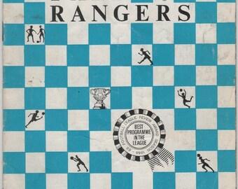 Vintage Football (soccer) Programme - Queens Park Rangers v Hull City, 1969/70 season