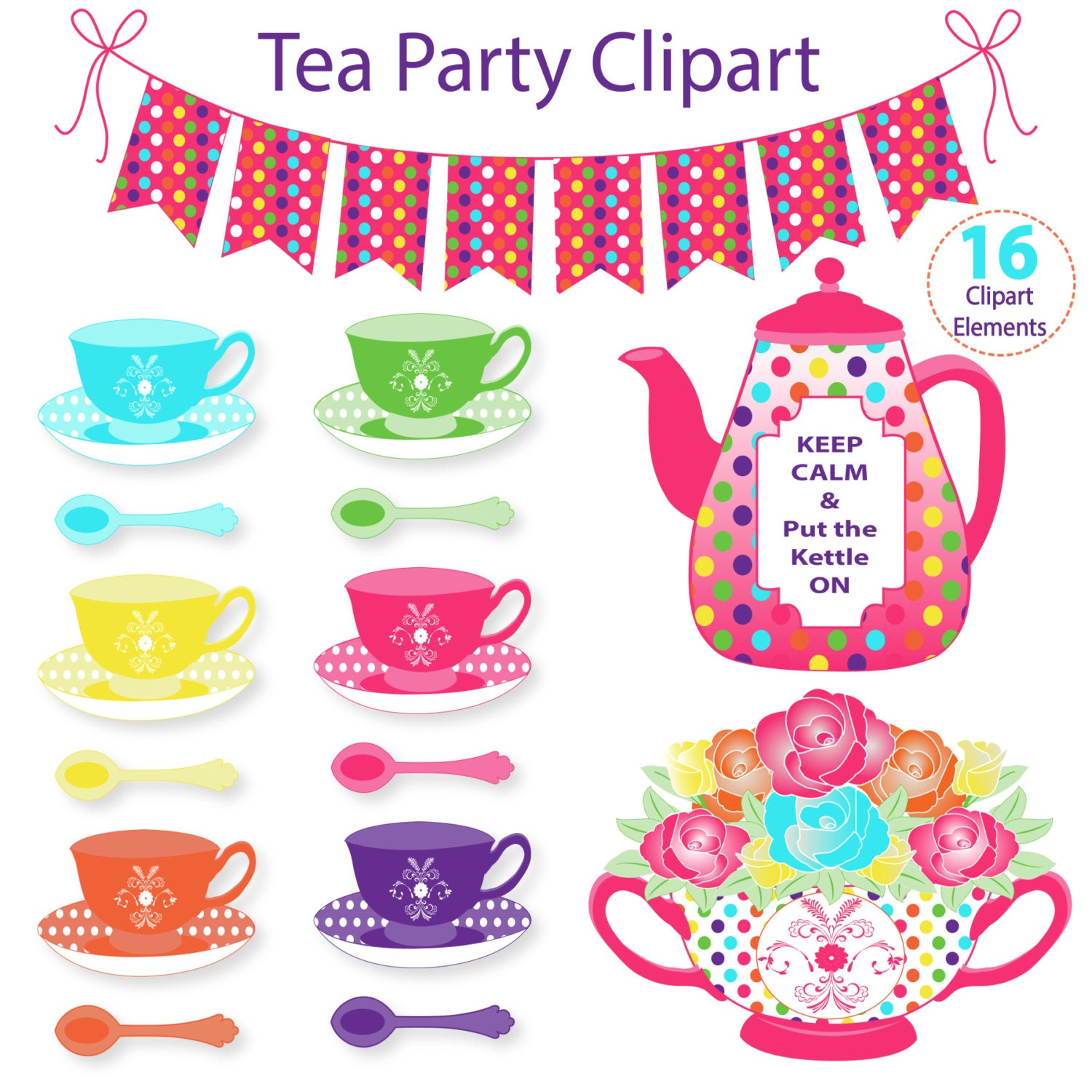 tea party clipart commercial use digital clip art by tea party clip art free downloads tea party clip art free