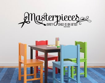 Every Child Is An Artist Wall Decal   Masterpieces Wall Decal   Kids Decor  Vinyl Lettering Part 14
