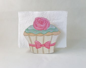 Yummy Cupcake Napkin Holder Kitchen Decor