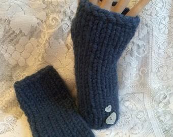 Chunky Blue Arm Gloves