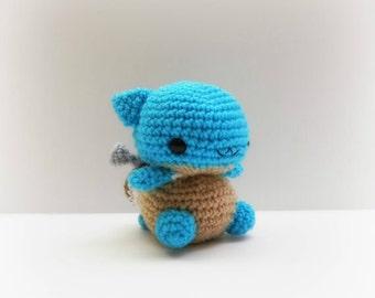 Crochet Blastoise Inspired Chibi Pokemon