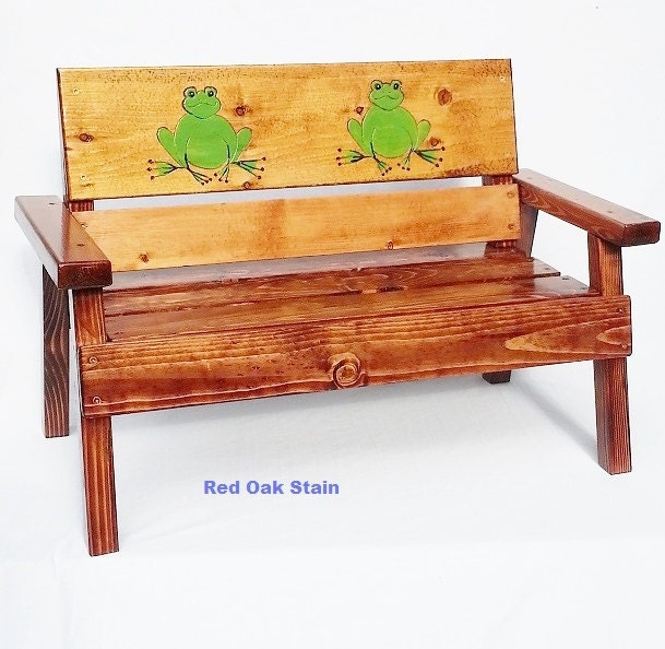 Kids outdoor wood bench childrens garden bench toddler wood for Kids outdoor furniture