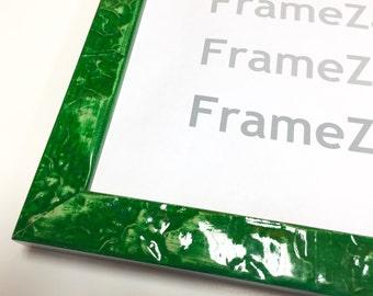 Boho Chic Frame,Modern Photo Frame,4x6 Green Frame,Boho Picture Frame,8x10 Green Frame,11x14 Green Frame,16x20 Green Frame,Emerald Frame