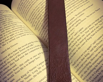 Owl Embossed Leather Bookmark