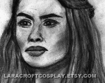 Cercei Lannister Drawing - Game of Thrones