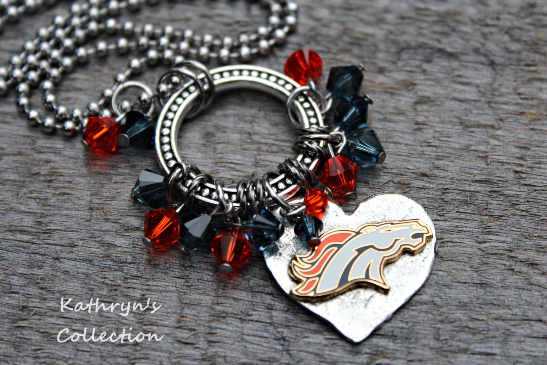 denver broncos necklace broncos jewelry