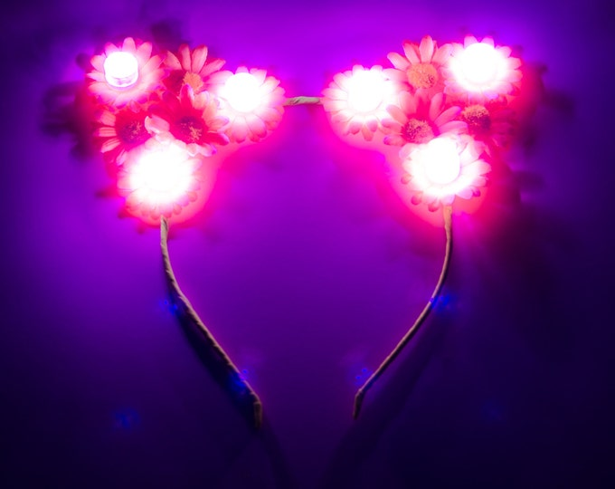 Neon LED Cat Ear Headband