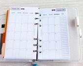 2017 Refill mensile Personal, calendario mese su due pagine STAMPATO