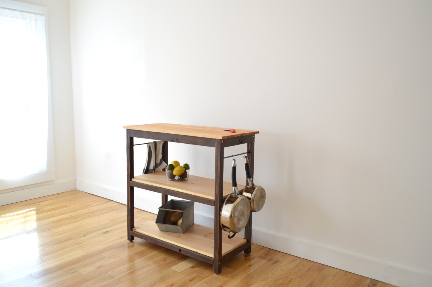 handcrafted kitchen island made with 100 reclaimed wood