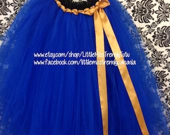 Royal Blue Tutu Skirt, Princess Anna Long Tutu, Long  Blue Tutu, Royal Blue Tutu, Tutu Skirt, Long Tutu Skirt, Girls Long Tutu Skirts