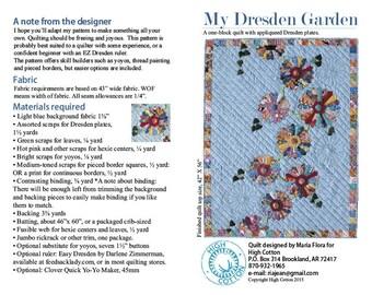 My Dresden Garden quilt pattern