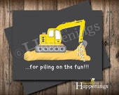 Construction Thank You Cards Bull dozer Thank You Dump Truck Thank You Excavator Thank You INSTANT DOWNLOAD by Busy bee's Happenings