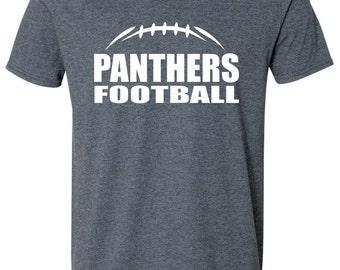 FOOTBALL SHIRT. Womens Football Shirt. Mascot Football Shirt. Glitter Shirt. V-Neck T-Shirt. Football Laces Shirt. Football Team Shirt.
