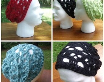 Crochet Skull Slouch Hat Adult Ready to Ship!