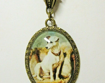 Jack Russel terrier pendant with chain - DAP09-049