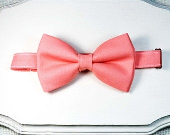 B107 Coral Bow Tie For baby/Toddler/Teen/Adult/with Adjust strap/Clip on