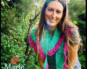 Crochet Shawl Pattern ~ Instant Download ~ Marie Shawlette