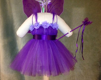 Purple Fairy Halloween Tutu Costume