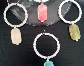 Set of 4 Rectangle Wine Charms