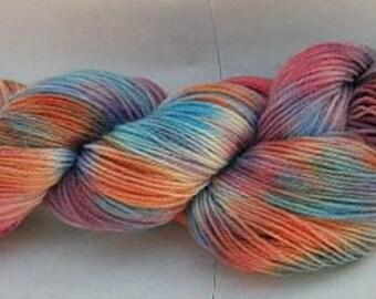 Hand dyed 4 ply yarn 'Mermaid Scales