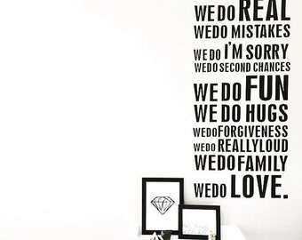 Family House Rules Wall Sticker