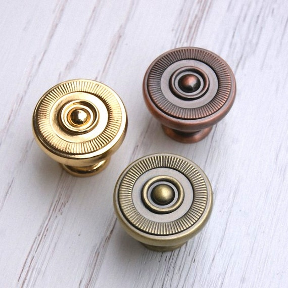Drawer knobs pulls antique brass copper gold small dresser for Small cabinet pulls