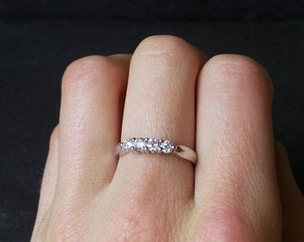 0.50 Diamond Engagement Ring in 18k White Gold