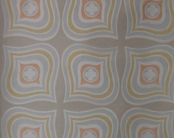1950s 1960s rare Vintage Wallpaper full roll Abstract Flowers Waves Pastel Color 57 Sq Feet new old stock Mid Century Modern 60s 50s Nr.1