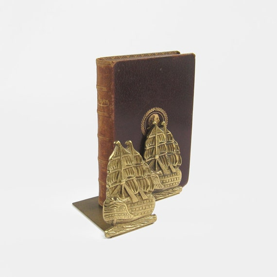 Vintage hms victory solid brass bookends lord horatio nelson - Antique brass bookends ...