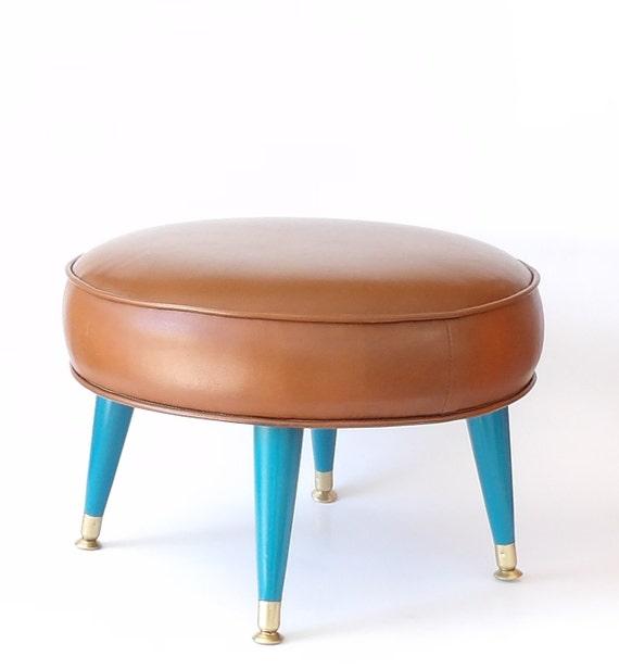 Round Ottoman Mid Century Modern Brown by MakingMidCenturyMod : il570xN80526376357wf from etsy.com size 570 x 616 jpeg 27kB