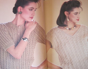 "Knit Pattern Book - Dorothee Bis Fils A Tricoter - 24 Sweaters to Knit - Bust Size 36"" - 46"""