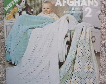 Crochet and Knit Pattern Book - Baby Afghans 2 - by Leisure Arts #101 - Vintage 1977