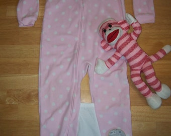 4T - UPCYCLED - The Naughty Monkey Sleeper - No More Crib Escapes/Stuck Legs!
