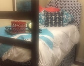 "Dorm Bed Skirt - LINED - 36"" long - dorm decor - college dorm decorations - dorm room - dorm bedding - college dorm - dorm room decor"