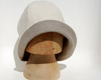 Art deco fashion designer hat for women| ©ZUTmanon vintage French linen 1920s inspired cloche hat