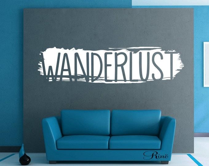 WANDERLUST Wall art Vinyl decal - world travel home decor
