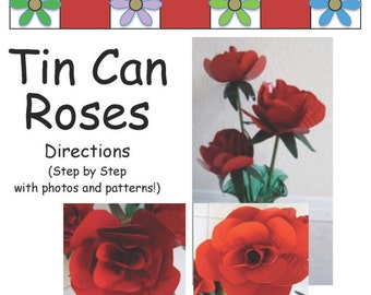 Directions to Make Tin Can Roses
