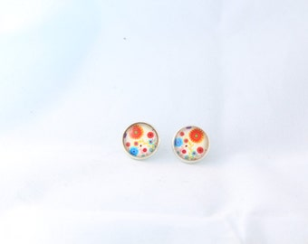 Flower Bouquet Earrings Studs 12mm