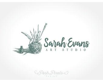 OOAK Logo Design (Premade) Art logo, Artist logo, Paintbrush logo, Ink logo, Photography logo, Business logo, Hand drawn logo