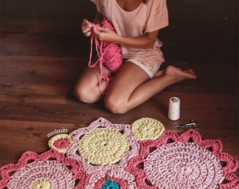 Alfombra de trapillo redonda simple - Como hacer alfombras de trapillo redondas ...